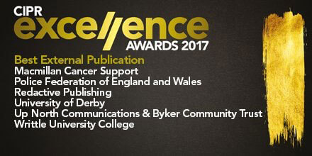 Up North shortlisted for Best External Publication at CIPR Excellence Awards