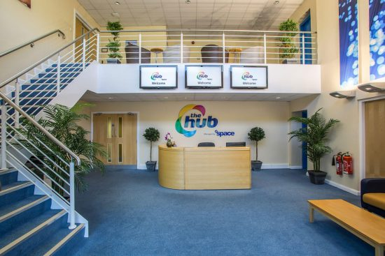 The Hub interior brand development