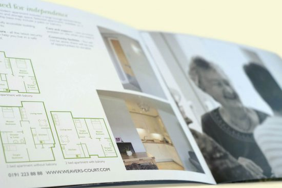 Weaver's Court brand development and print design