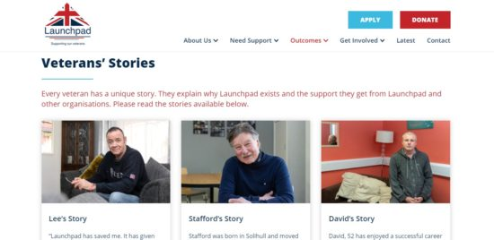Launchpad new website outcomes